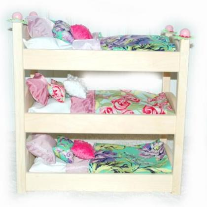 Triple Doll Bunk Bed - Lilac Garden..