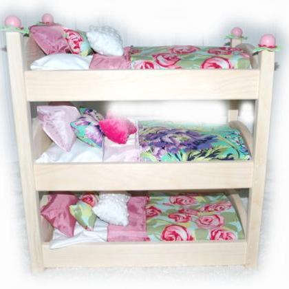 Triple Doll Bunk Bed - Rose Garden ..
