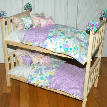 American Girl Doll Bed - Doll Bunk Bed Soooo Cute Kittens - Fits American Girl Doll and 18 inch dolls